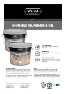 WOCA Invisible Oil Primer Oil