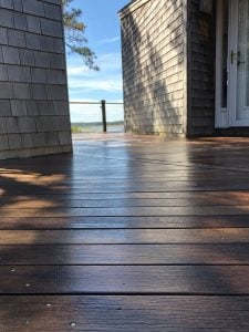 Woca Treated Deck on Cape Cod