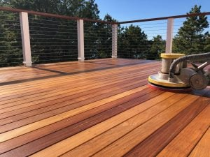 Deck refinished by Woca of Cape Cod